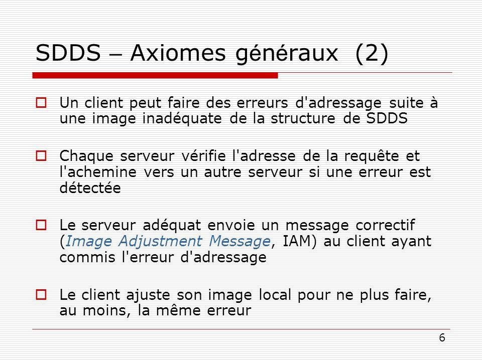 SDDS – Axiomes généraux (2)