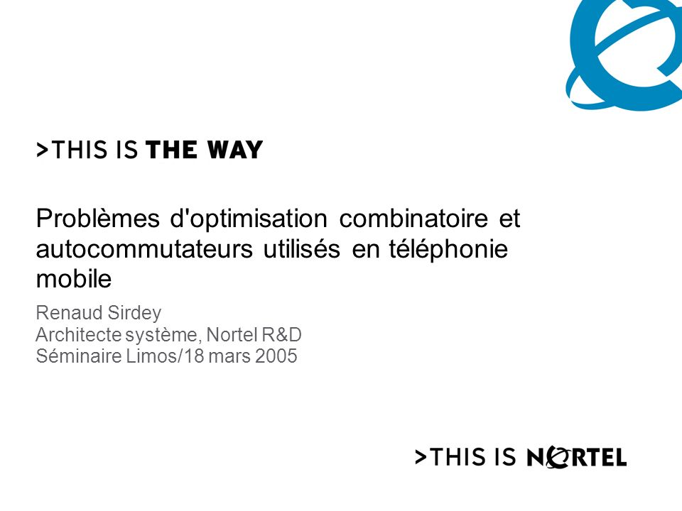 Nortel Corporate Presentation