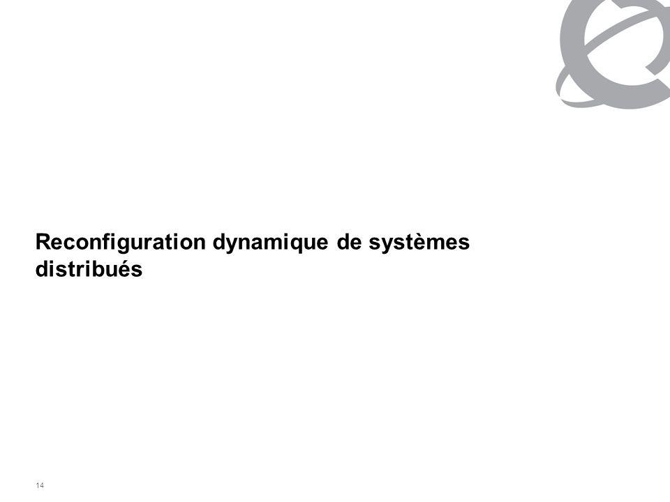 Reconfiguration dynamique de systèmes distribués