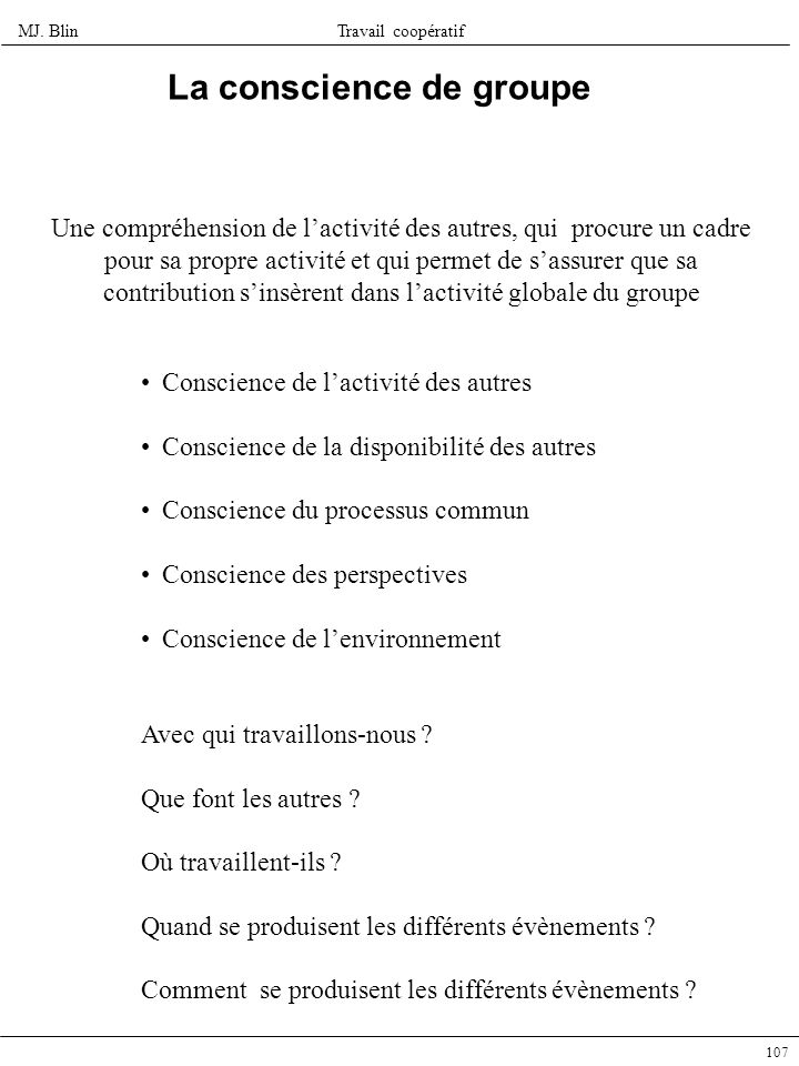 La conscience de groupe