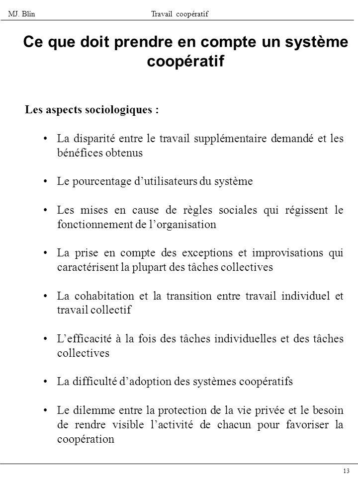 Ce que doit prendre en compte un système coopératif