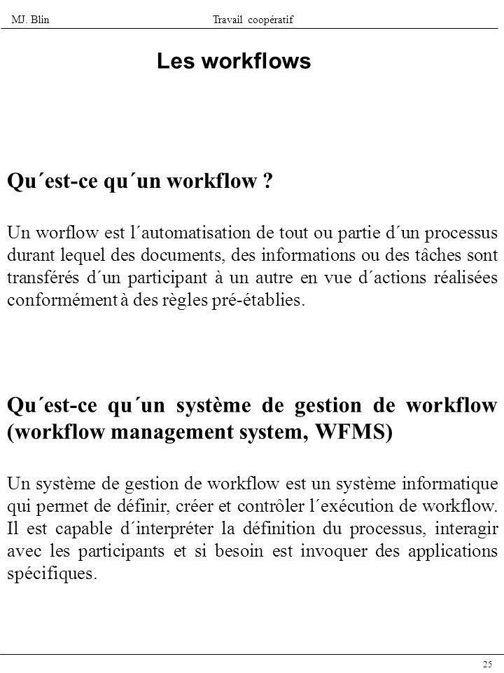 Qu´est-ce qu´un workflow