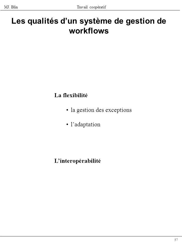 Les qualités d'un système de gestion de workflows