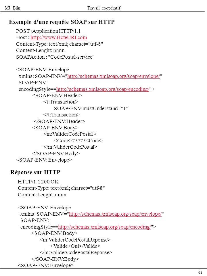 Exemple d une requête SOAP sur HTTP