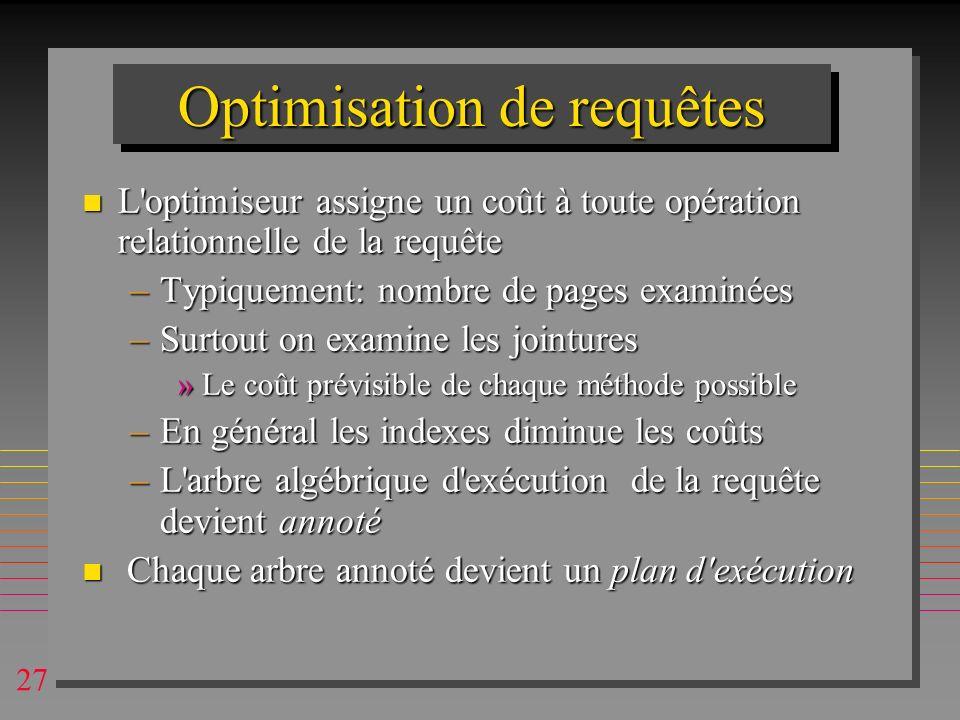 Optimisation de requêtes