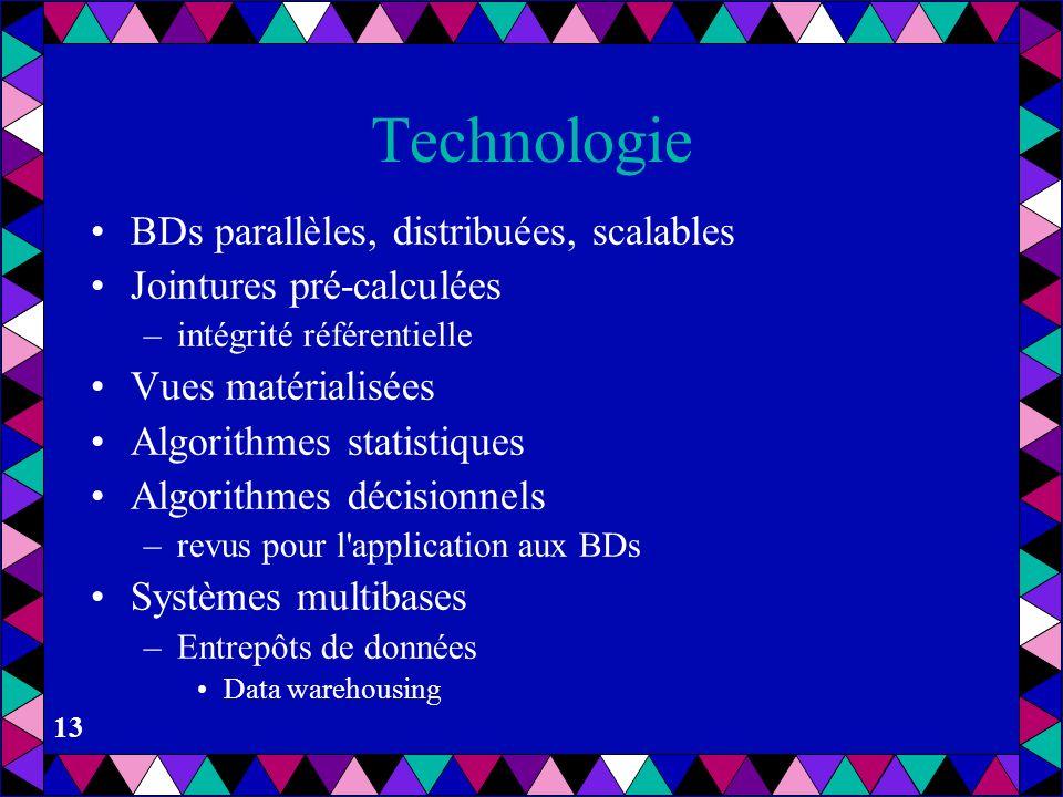 Technologie BDs parallèles, distribuées, scalables