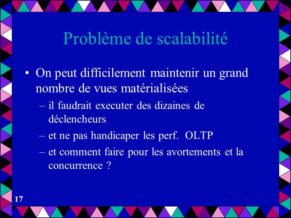 Problème de scalabilité