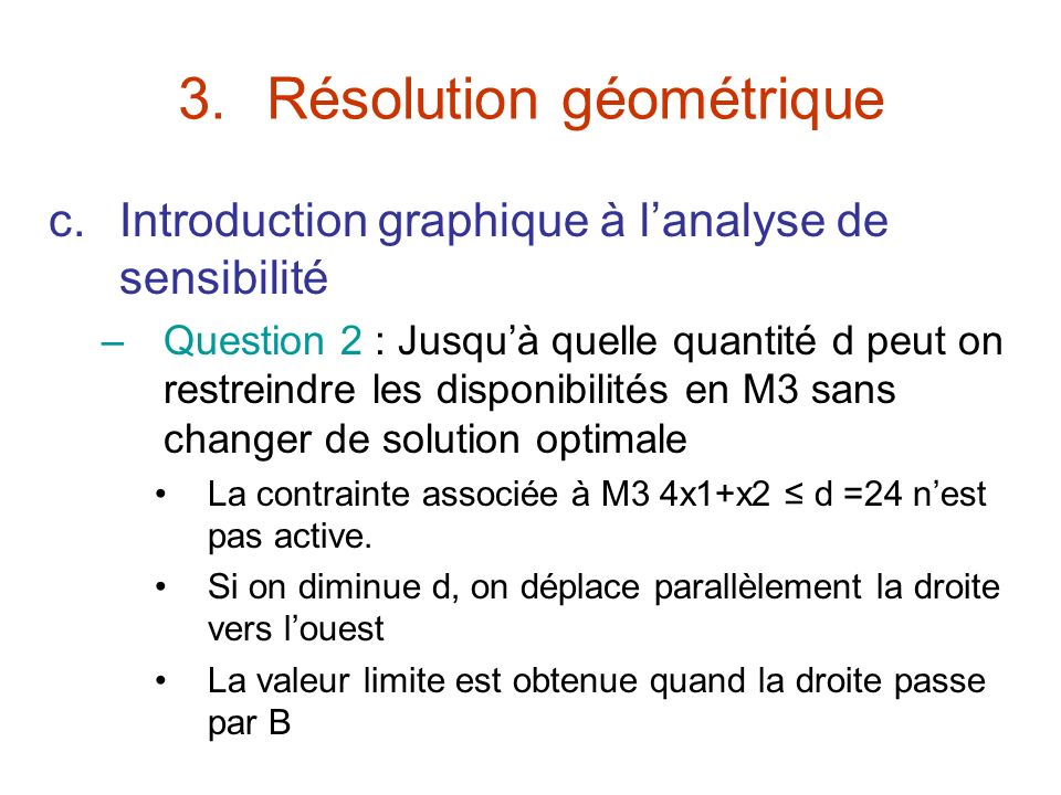 Résolution géométrique