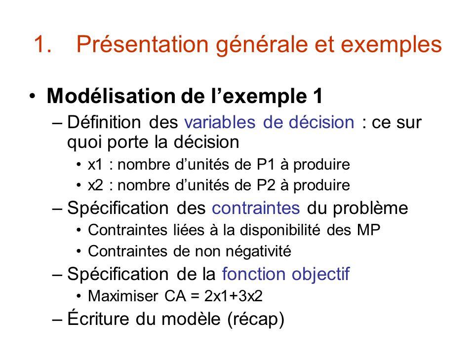 Présentation générale et exemples