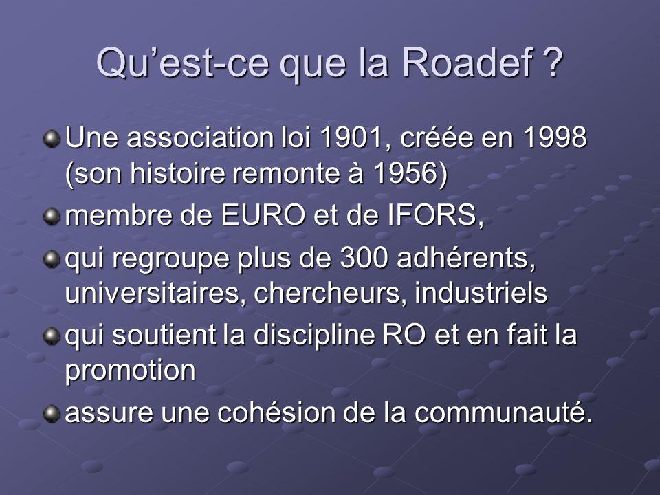 Qu'est-ce que la Roadef