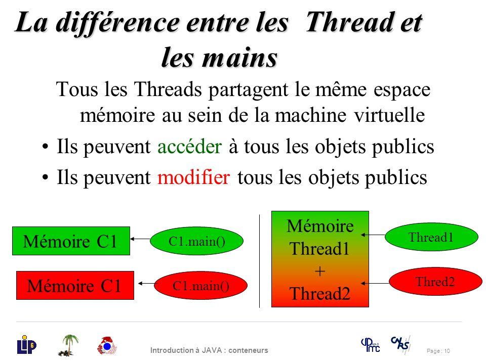 La différence entre les Thread et