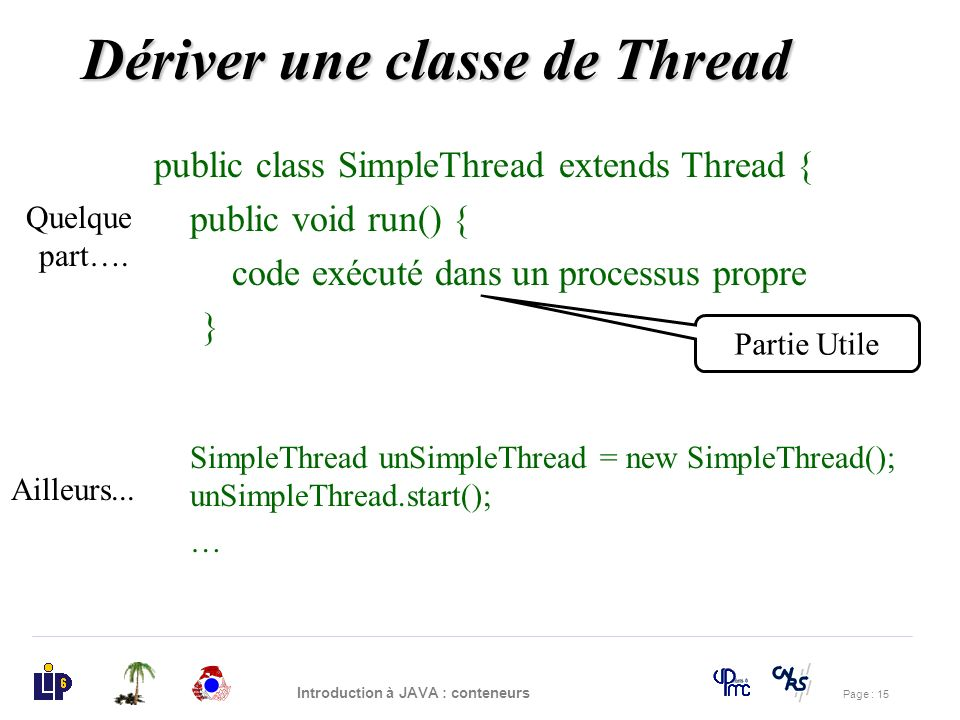 Dériver une classe de Thread