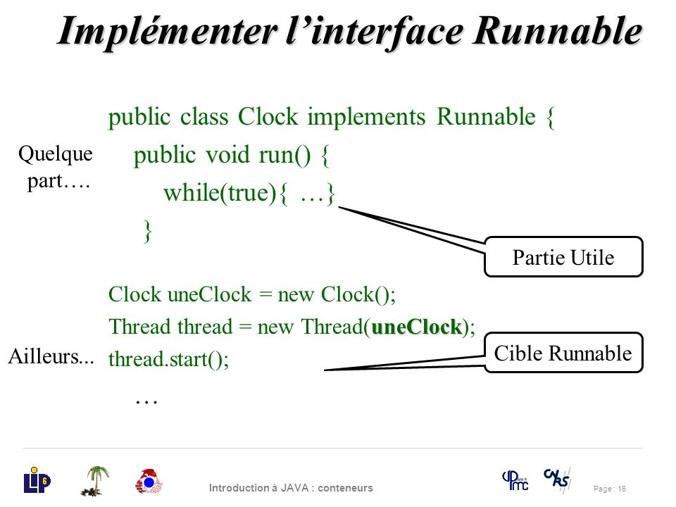 Implémenter l'interface Runnable