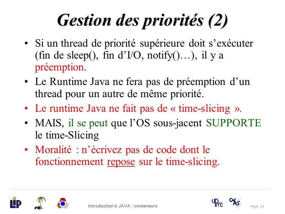 Gestion des priorités (2)