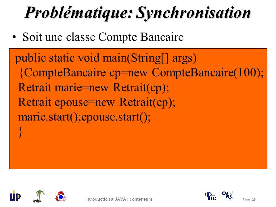 Problématique: Synchronisation