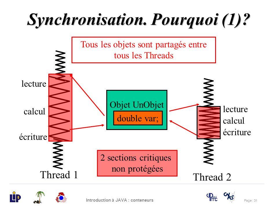 Synchronisation. Pourquoi (1)