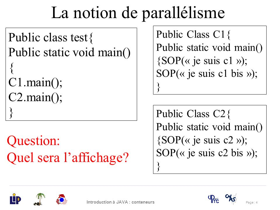 La notion de parallélisme