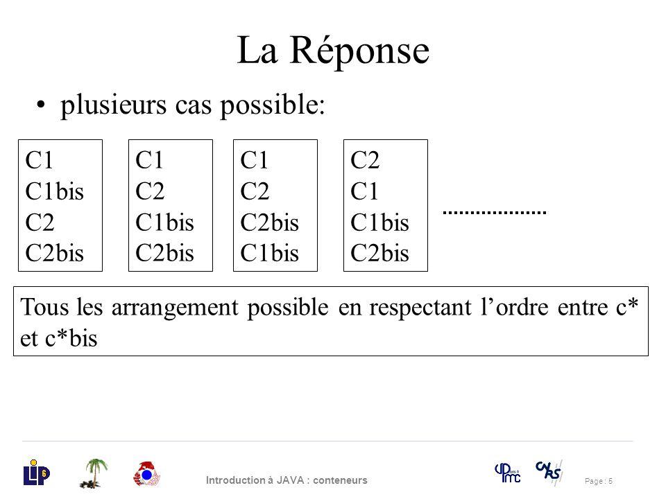 La Réponse plusieurs cas possible: C1 C1bis C2 C2bis C1 C2 C1bis C2bis