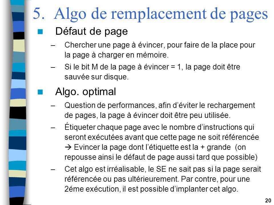 5. Algo de remplacement de pages