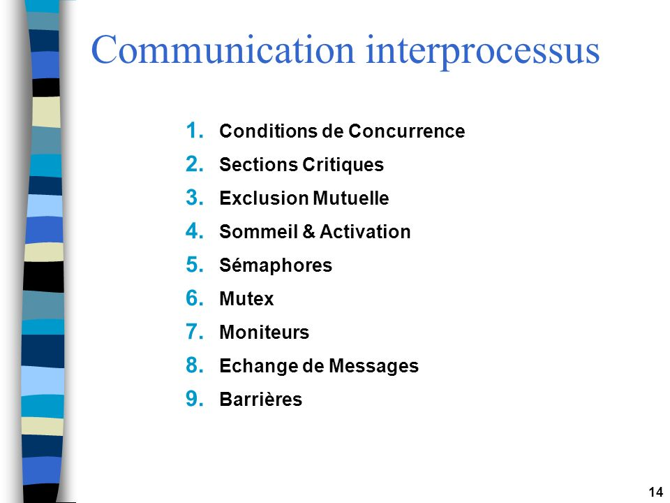 Communication interprocessus