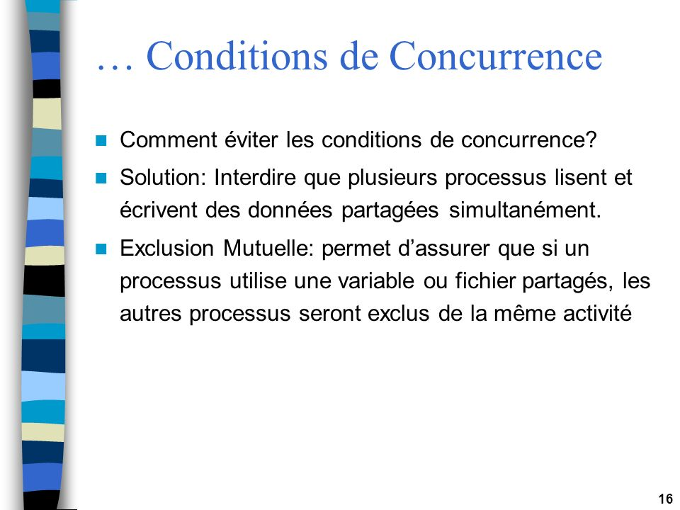 … Conditions de Concurrence