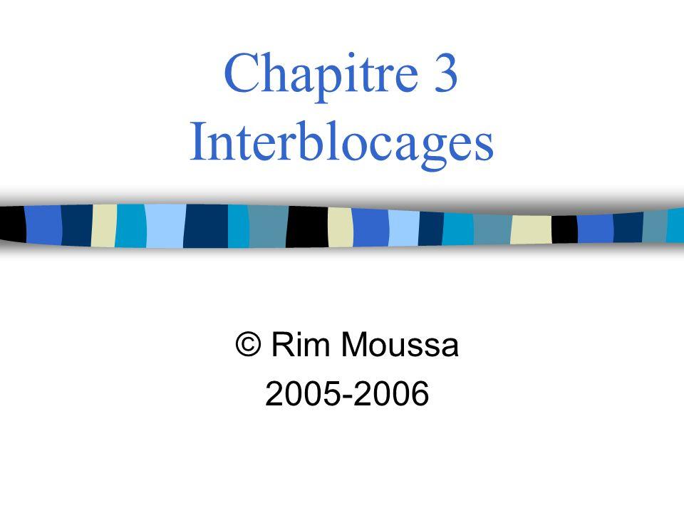 Chapitre 3 Interblocages