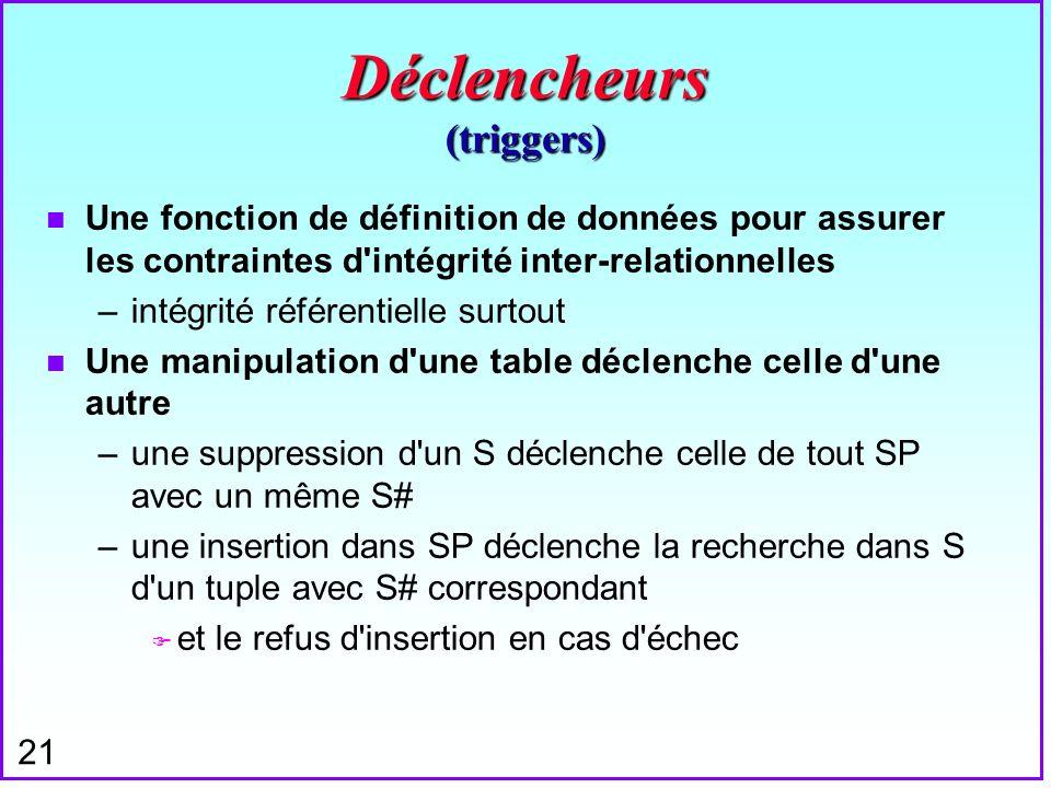 Déclencheurs (triggers)