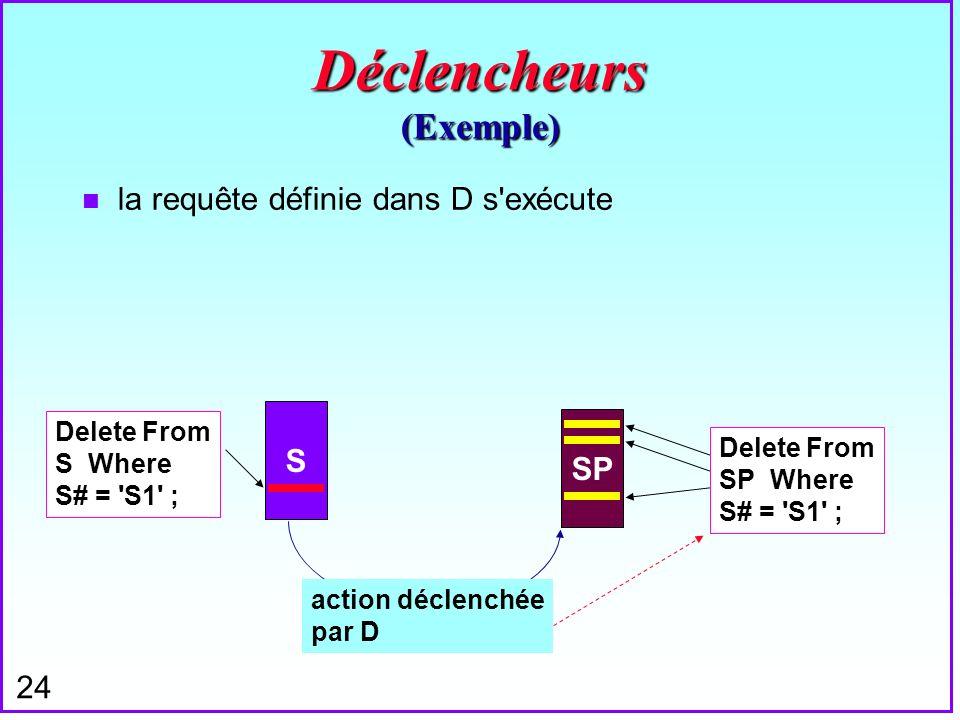 Déclencheurs (Exemple)