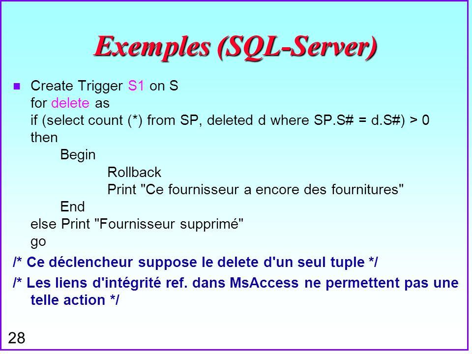 Exemples (SQL-Server)