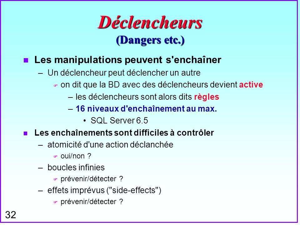 Déclencheurs (Dangers etc.)