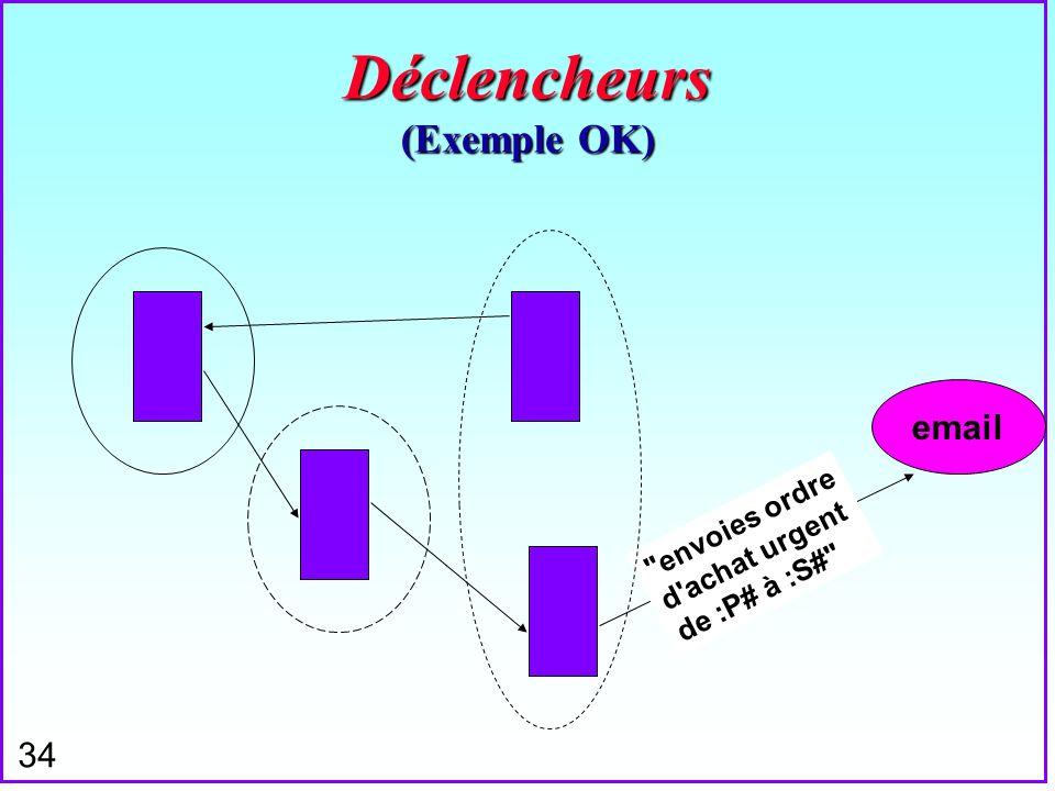 Déclencheurs (Exemple OK)