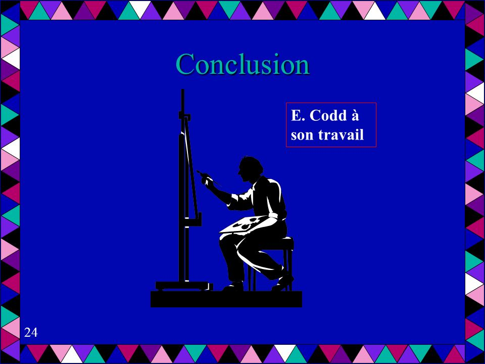 Conclusion E. Codd à son travail