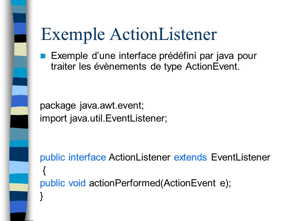 Exemple ActionListener