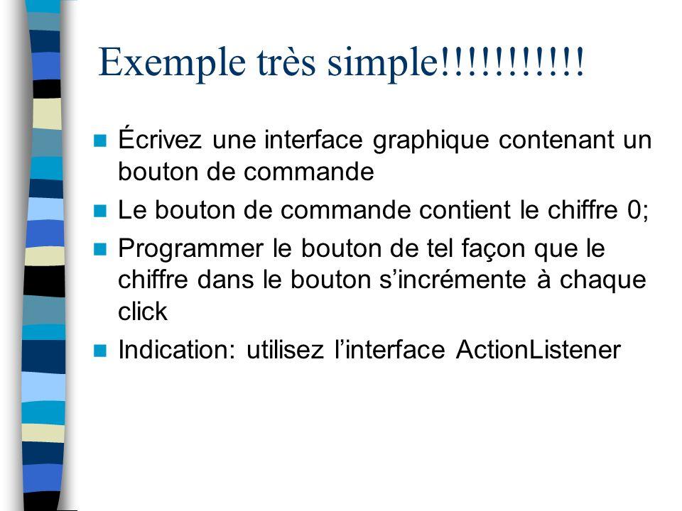 Exemple très simple!!!!!!!!!!! Écrivez une interface graphique contenant un bouton de commande. Le bouton de commande contient le chiffre 0;