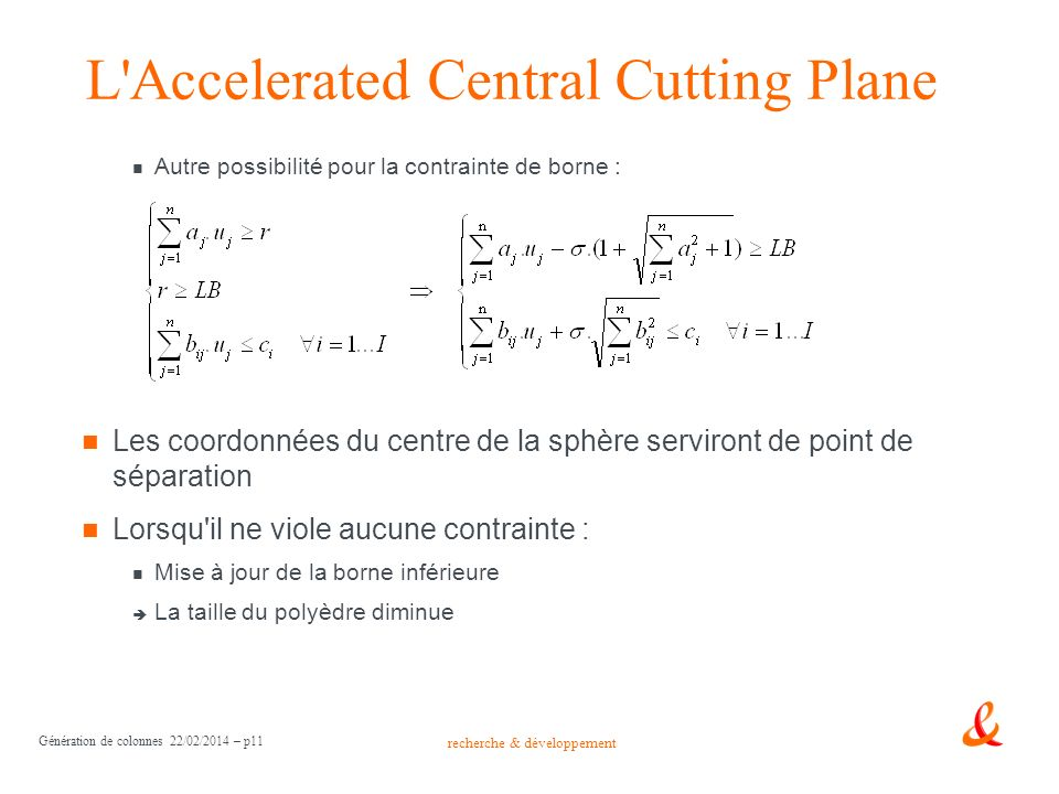 L Accelerated Central Cutting Plane