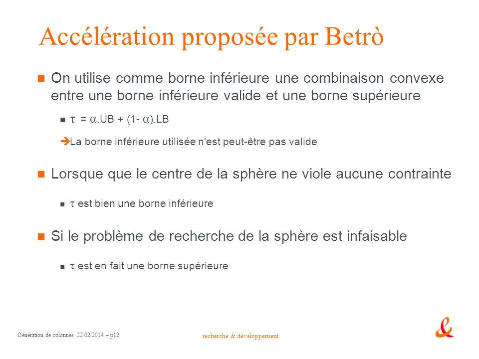 Accélération proposée par Betrò
