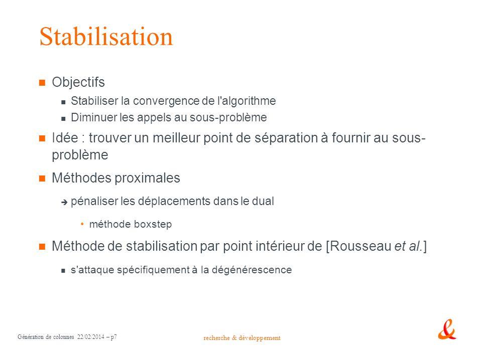 Stabilisation Objectifs