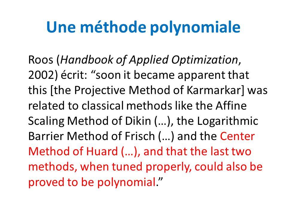 Une méthode polynomiale