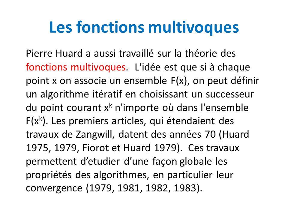 Les fonctions multivoques