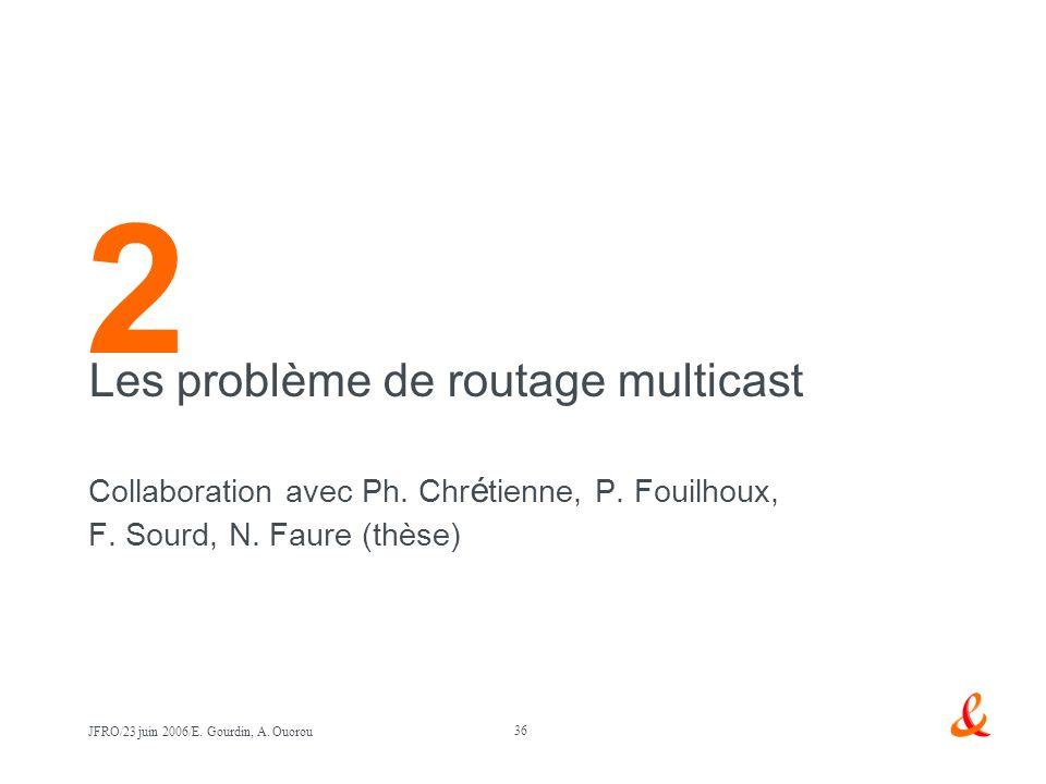 2 Les problème de routage multicast