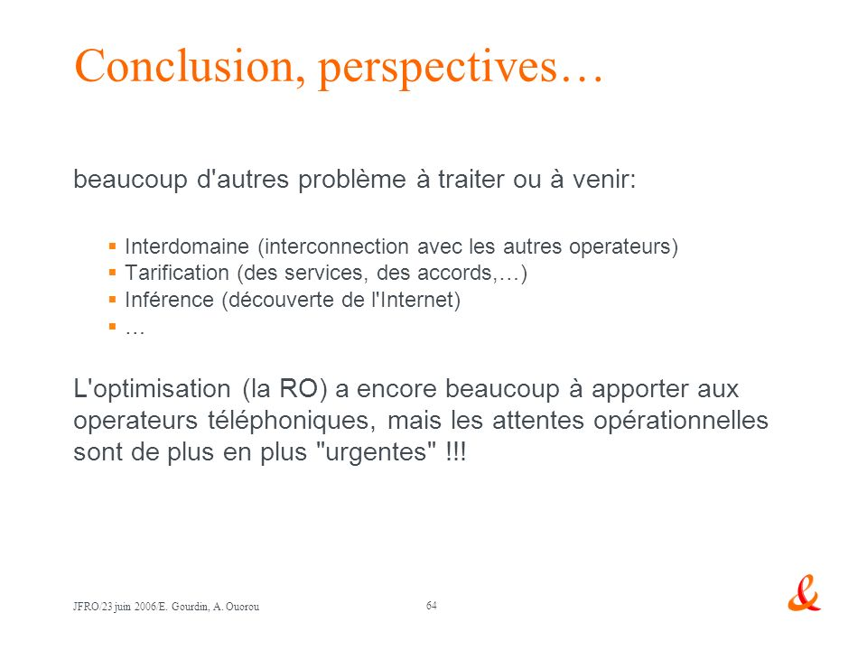 Conclusion, perspectives…