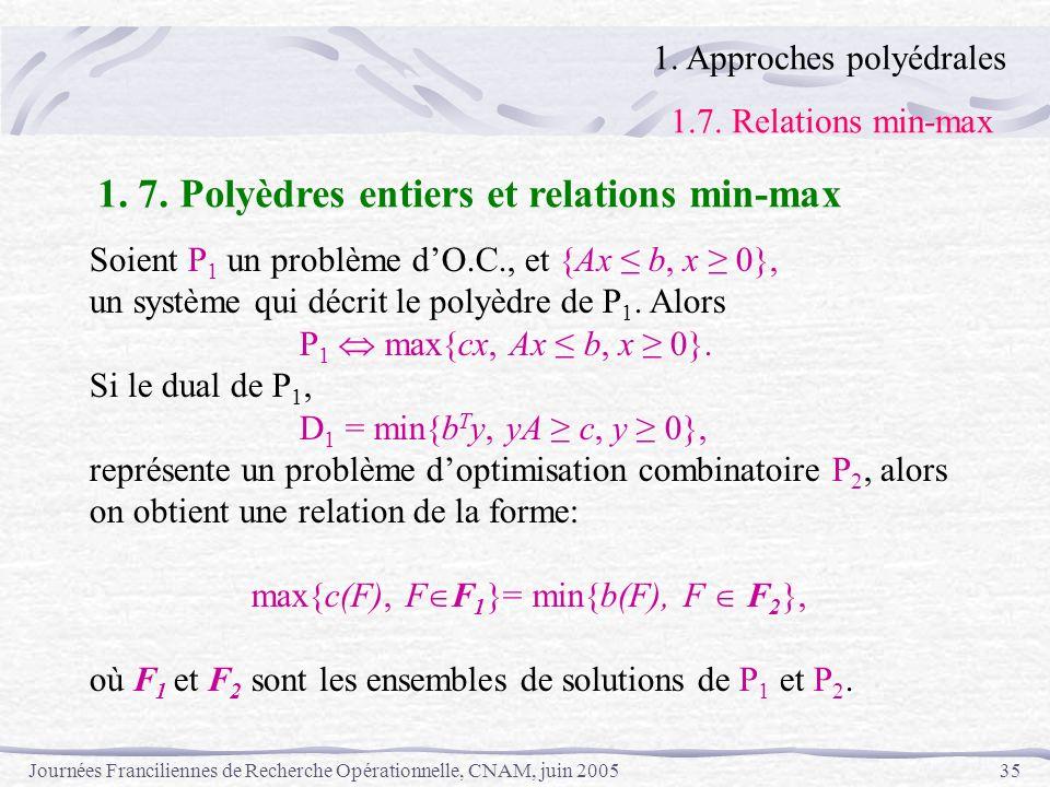 max{c(F), FF1}= min{b(F), F  F2},