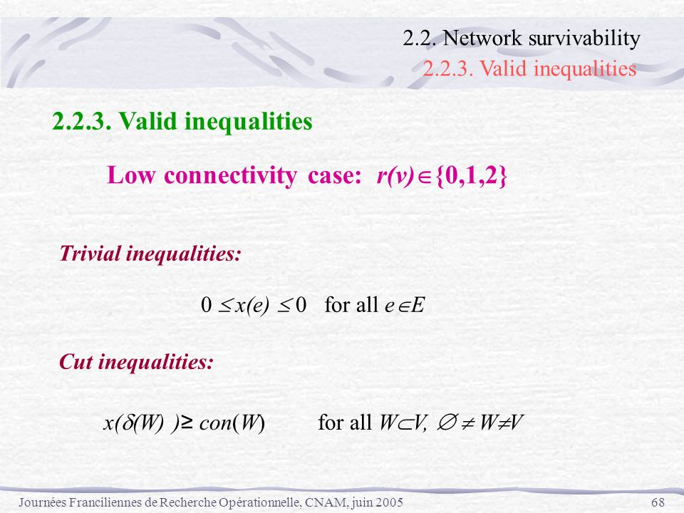 Low connectivity case: r(v){0,1,2}