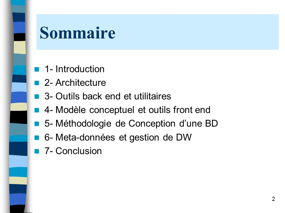 Sommaire 1- Introduction 2- Architecture