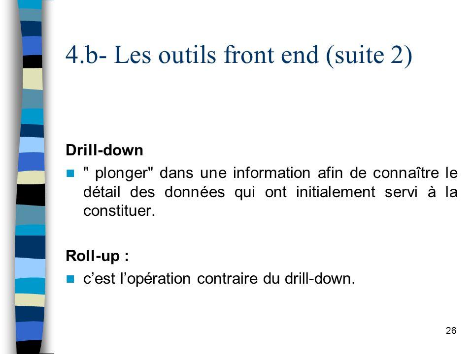 4.b- Les outils front end (suite 2)