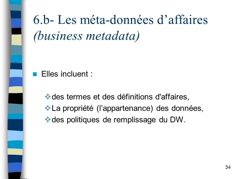 6.b- Les méta-données d'affaires (business metadata)