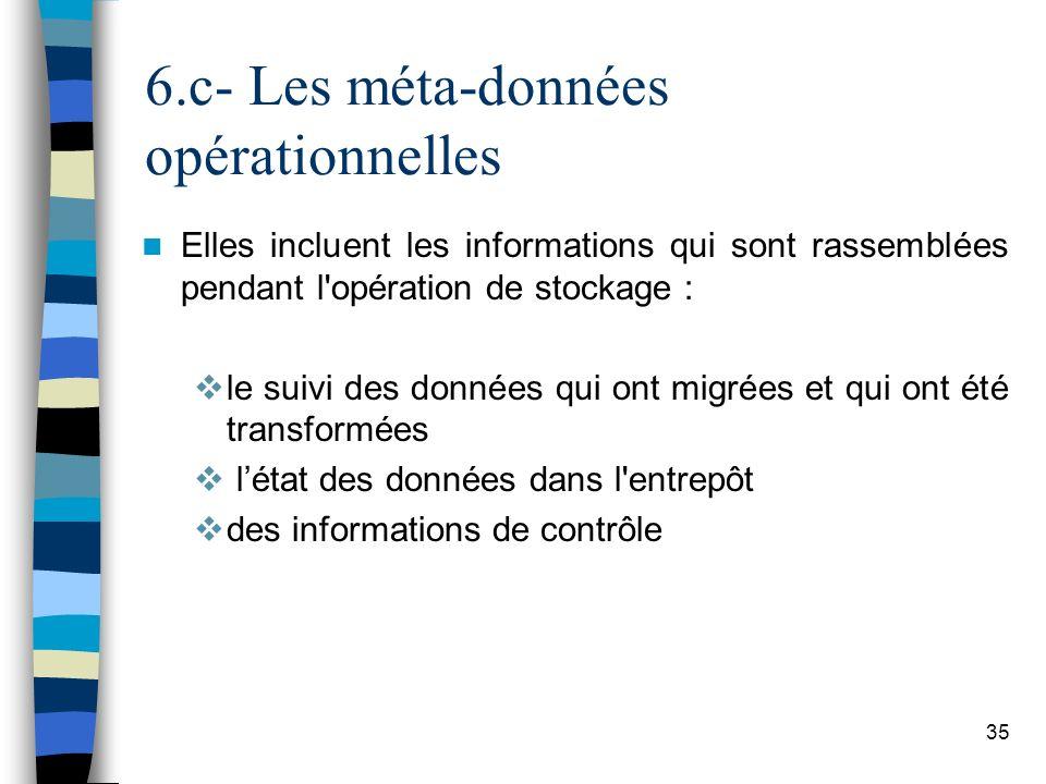 6.c- Les méta-données opérationnelles