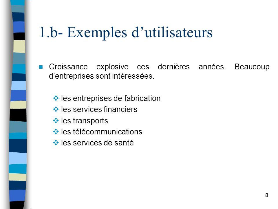 1.b- Exemples d'utilisateurs