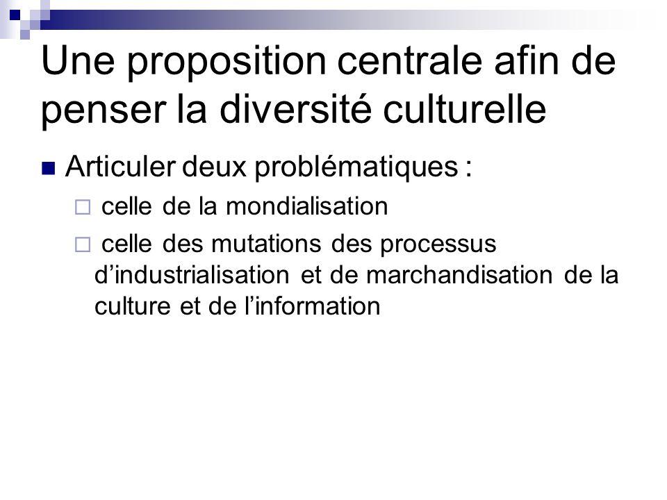 Une proposition centrale afin de penser la diversité culturelle