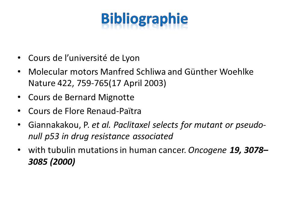 Bibliographie Cours de l'université de Lyon